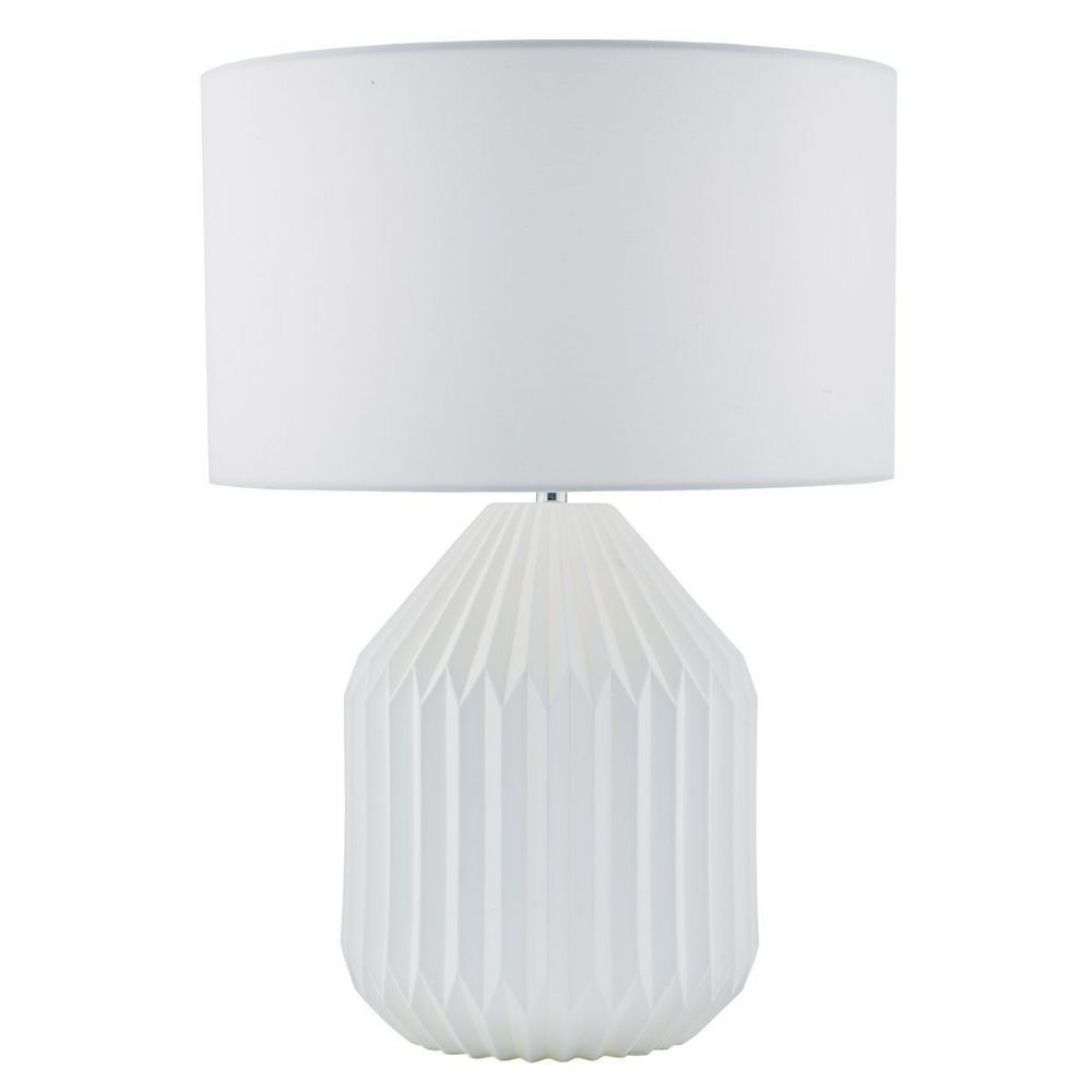 Hosanna Table Lamp Dual Light White complete with Shade